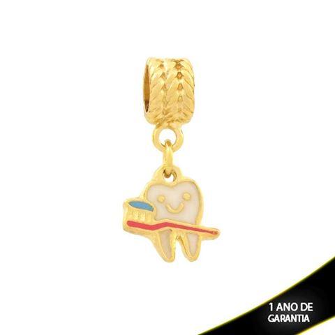 Imagem de Pingente Berloque Dentinho e Escova Colorido com Resina - 0304370