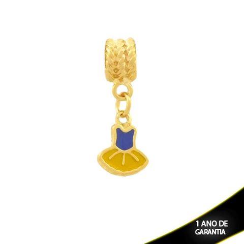 Imagem de Pingente Berloque Vestido Colorido com Resina - 0304355