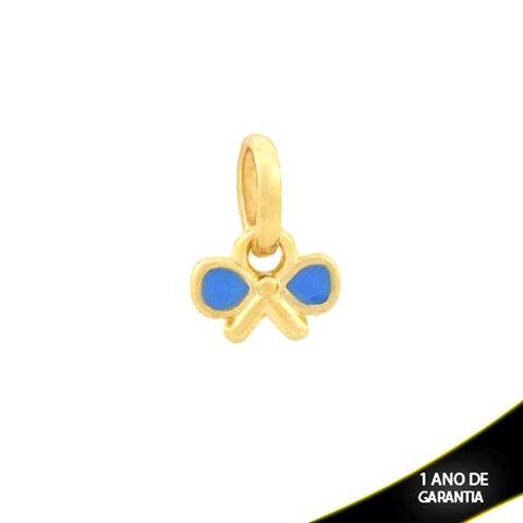 Imagem de Pingente Laço com Resina Azul - 0304337