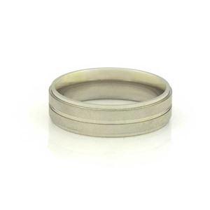 Imagem de Aliança de Compromisso Aço Inox com Três Filetes Lisos 6mm - 0104847