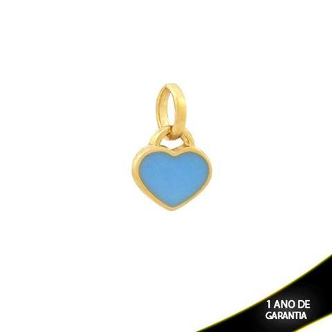 Imagem de Pingente Coração com Resina Azul - 0304336