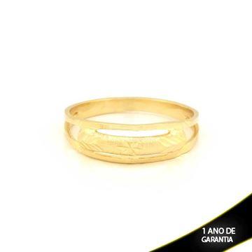 Imagem de Anel Vazado e Fosco com Desenho Diamantado - 0104766