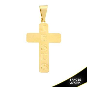 """Imagem de Pingente Cruz Escrito """"Jesus"""" - 0300158"""