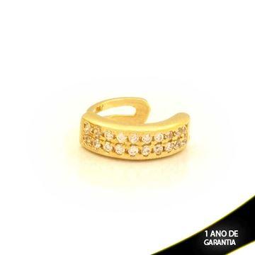 Imagem de Brinco Piercing de Pressão com Zircônias - 0211808