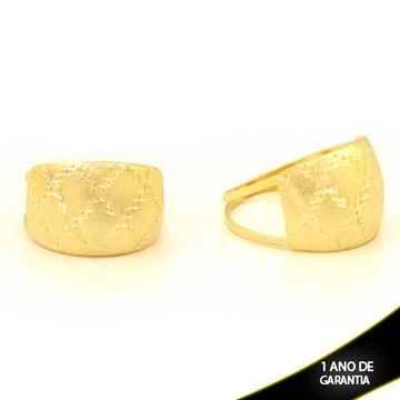 Imagem de Anel Vazado e Fosco com Desenho Diamantado - 0104786