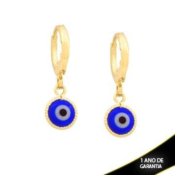 Imagem de Brinco Argola com Olho Grego Azul Escuro - 0211746