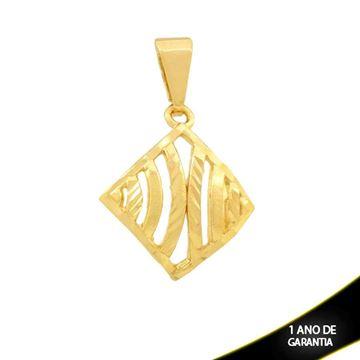Imagem de Pingente Quadrado Diamantado Vazado - 0304386