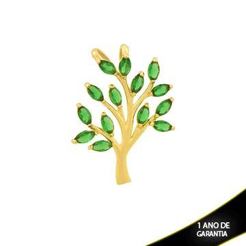 Imagem de Pingente Árvore com Zircônias Verde - 0304411