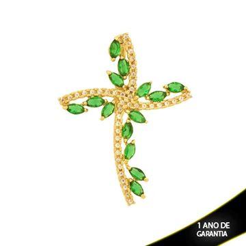 Imagem de Pingente Cruz com Zircônias Verde - 0304410