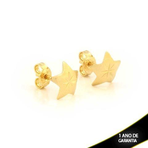 Imagem de Brinco Estrela Fosca Diamantada - 0211692