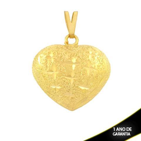 Imagem de Pingente Coração Duplo Fosco e Diamantado - 0303580
