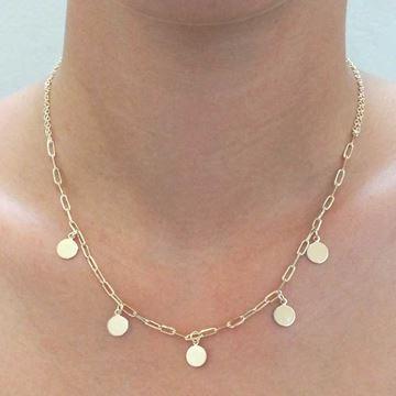 Imagem de Corrente Feminina com Medalhas Lisas 40cm - 0403531