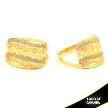 Imagem de Anel Vazado Diamantado com Aplique de Ródio - 0104783