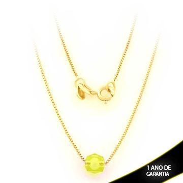 Imagem de Corrente Feminina com Pedra Verde 45cm - 0403534