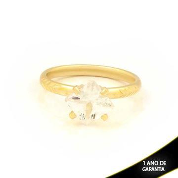 Imagem de Anel Diamantado com Pedra Quadrada de Zircônia - 0104760