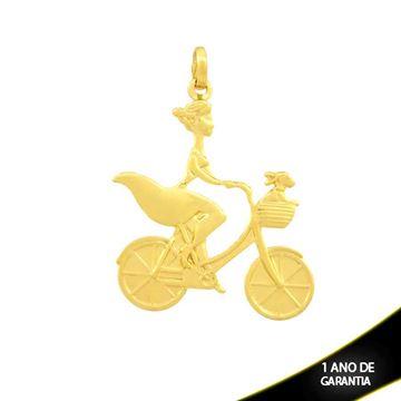 Imagem de Pingente Mulher de Bicicleta com Cachorrinho - 0304422