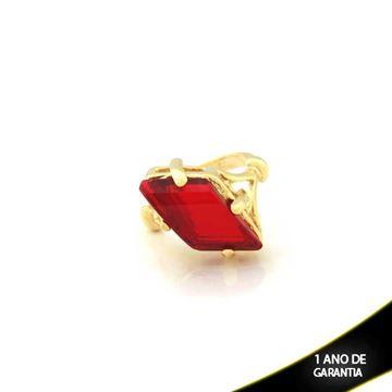 Imagem de Anel com Pedra Acrílica Vermelha - 0103800