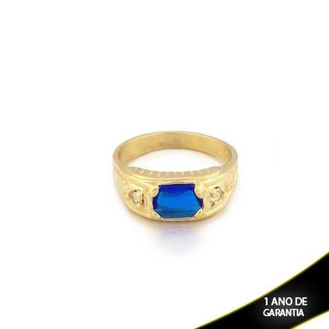 Imagem de Anel Masculino com Strass e Pedra Azul - 0104040
