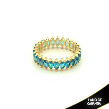 Imagem de Anel Inteiro com Pedras Azul Piscina - 0104340