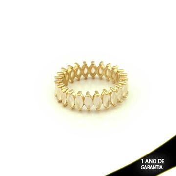 Imagem de Anel Inteiro com Pedras Branco Gelo - 0104340