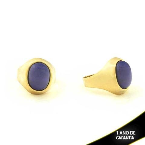 Imagem de Anel Oval com Pedra Azul Escuro - 0103316