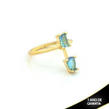 Imagem de Anel com Pedras Naturais Azul - 0104495