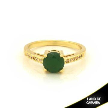 Imagem de Anel com Pedras de Zircônias Verde Escuro - 0104695