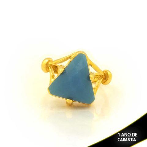 Imagem de Anel com Pedra Acrílica Azul Claro - 0103798