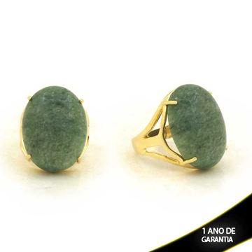 Imagem de Anel com Pedra Natural Verde - 0103907