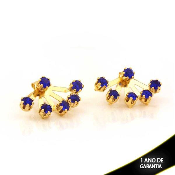 Imagem de Brinco Ear Jacket com Seis Strass Azul Bic - 0208892