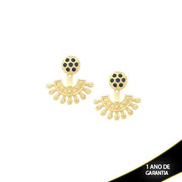 Imagem de Brinco Ear Jacket com Pedras de Strass Azuis - 0209225
