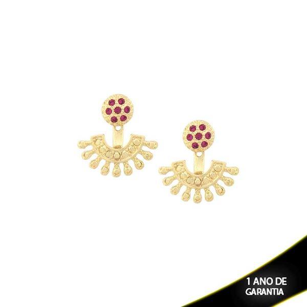 Imagem de Brinco Ear Jacket com Pedras de Strass Rosas - 0209225