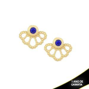 Imagem de Brinco Ear Jacket com Pedra Azul Bic - 0209215