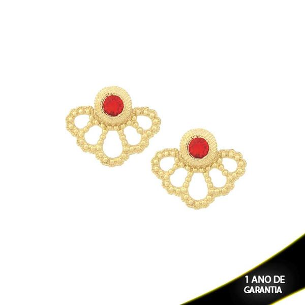 Imagem de Brinco Ear Jacket com Pedra Vermelha - 0209215