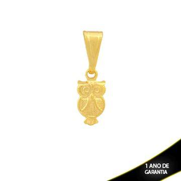 Imagem de Pingente Pequeno Coruja Diamantado com Bolinhas - 0304299