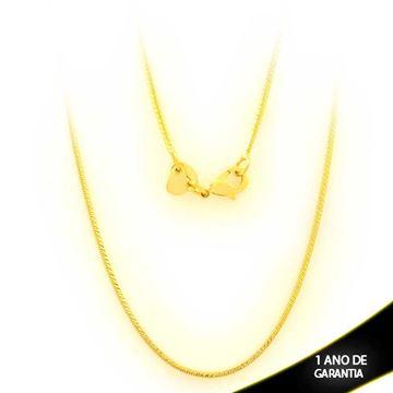 Imagem de Corrente Feminina Malha Quadrada Diamantada 45cm - 0403559