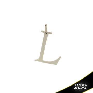 """Imagem de Pingente de Aço Liso com Letra """"L"""" - 0300069"""