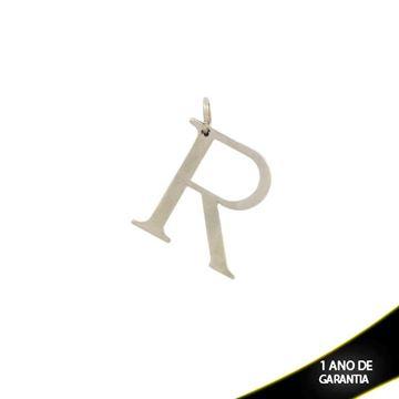 """Imagem de Pingente de Aço Liso com Letra """"R"""" - 0300069"""