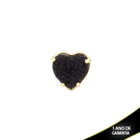 Imagem de Pingente Coração Com Réplica De Pedra Drusa Preta - 0303414