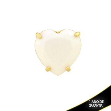 Imagem de Pingente Coração de Pedra Natural Branca - 0303437