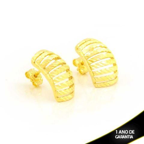 Imagem de Brinco Retângulo Vazado e Diamantado - 0211720