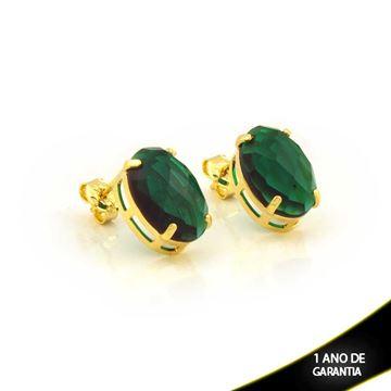 Imagem de Brinco de Pedra Acrílica Oval Verde - 0210672
