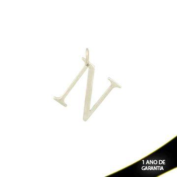 """Imagem de Pingente de Aço Liso com Letra """"N"""" - 0300069"""