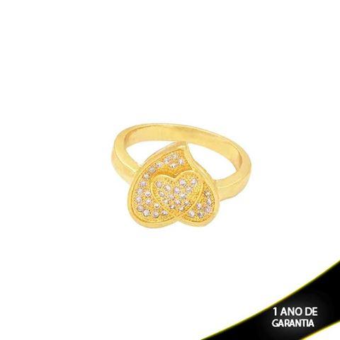 Imagem de Anel Coração com Pedras de Micro Zircônias - 0104138