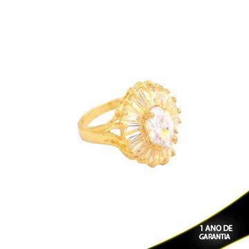 Imagem de Anel Oval com Pedras de Zircônias - 0104133