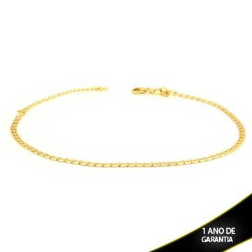 Imagem de Tornozeleira Lisa e Diamantada 22cm Mais 5cm de Extensor - 0600654