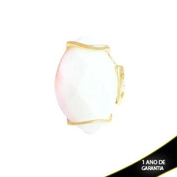 Imagem de Anel Grande de Pedra Natural Quartzo Branco - 0103479