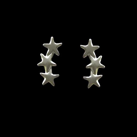 Imagem de Brinco de Prata 925 Pequeno Três Estrelas - 0211967