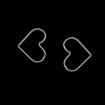 Imagem de Brinco de Prata 925 Fio de Coração Pequeno - 0211968