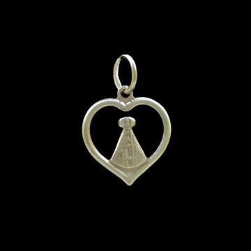 Imagem de Pingente de Prata 925 Coração com Nossa Senhora Aparecida - 0304507